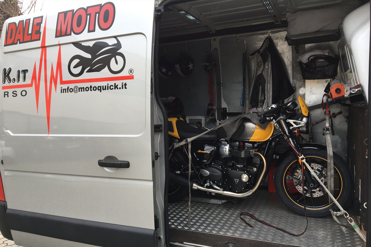recupero moto furgone
